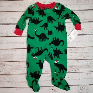 Carter's | Dinosaur Christmas Zipper Sleeper
